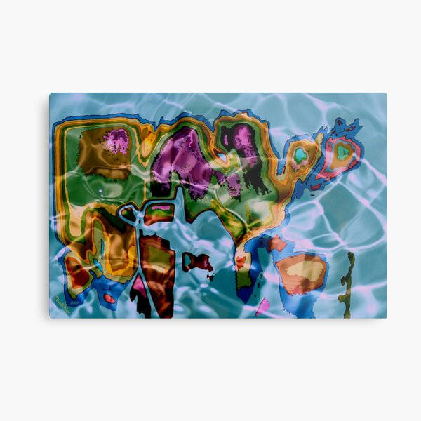 The primordial world map of emotions Metal Print