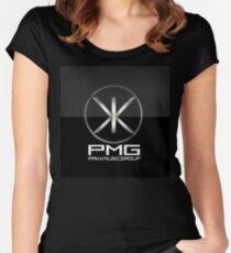Exlusive Black Pakk Logo Women's Fitted Scoop T-Shirt