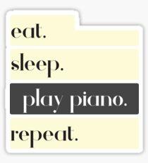 Eat Sleep Play Piano Repeat Sticker