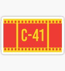 C-41 Filmverarbeitung Sticker