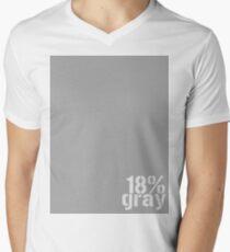 18% Gray Card Men's V-Neck T-Shirt