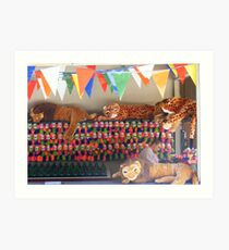 Lions and Tigers and Leopards..Oh Boy Art Print