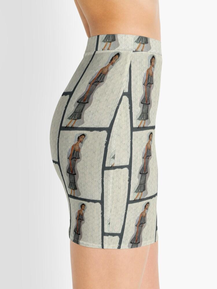 Alternate view of A Pretty Girl In a Ruffled Grey dress Mini Skirt