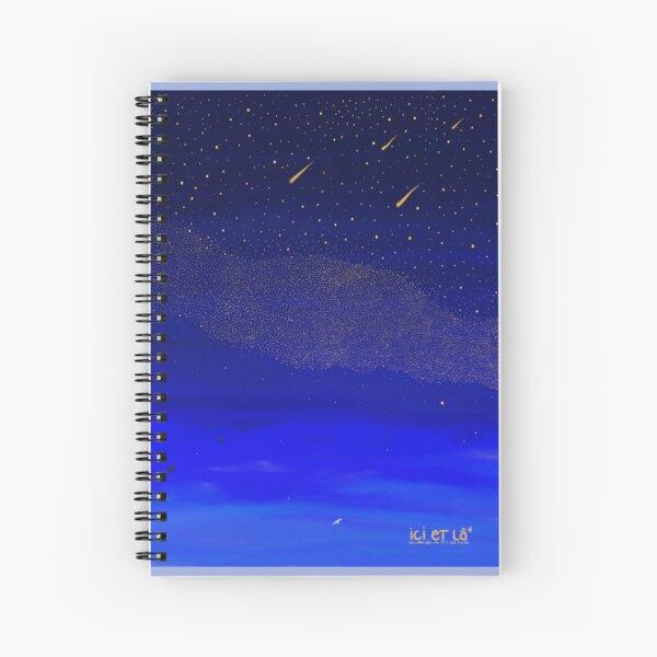 La Nuit Bleue - Blue Night Cahier à spirale