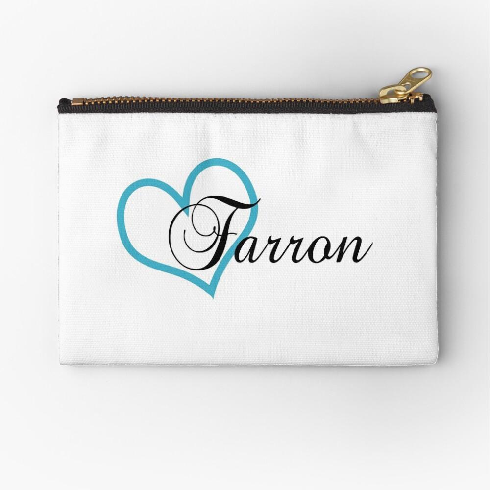 Heart Farron Zipper Pouch