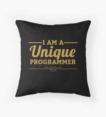 programmer : i am a unique programmer Floor Pillow