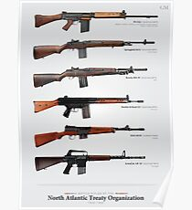 Battle Rifles der NATO Poster