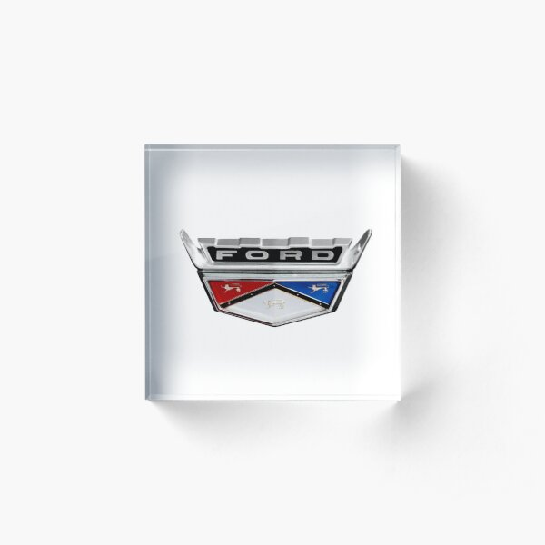 Ford Crest Emblem Acrylic Block