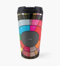 """Coffee """"Flavor.Wheel"""" by Jared S Tarbell - Adapted for Redbubble Rupert Russell Travel Mug"""