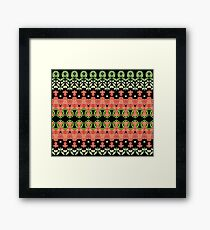 Strawberries abstract III Framed Print