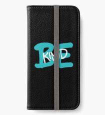 Be Kind Slogan Graffiti / Hip Hop style (Blue) iPhone Wallet/Case/Skin