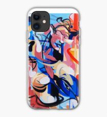 Expressive Abstract People Composition painting iPhone Case