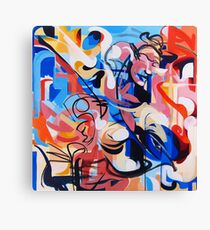Expressive Abstract People Composition painting Canvas Print