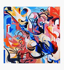 Expressive Abstract People Composition painting Photographic Print