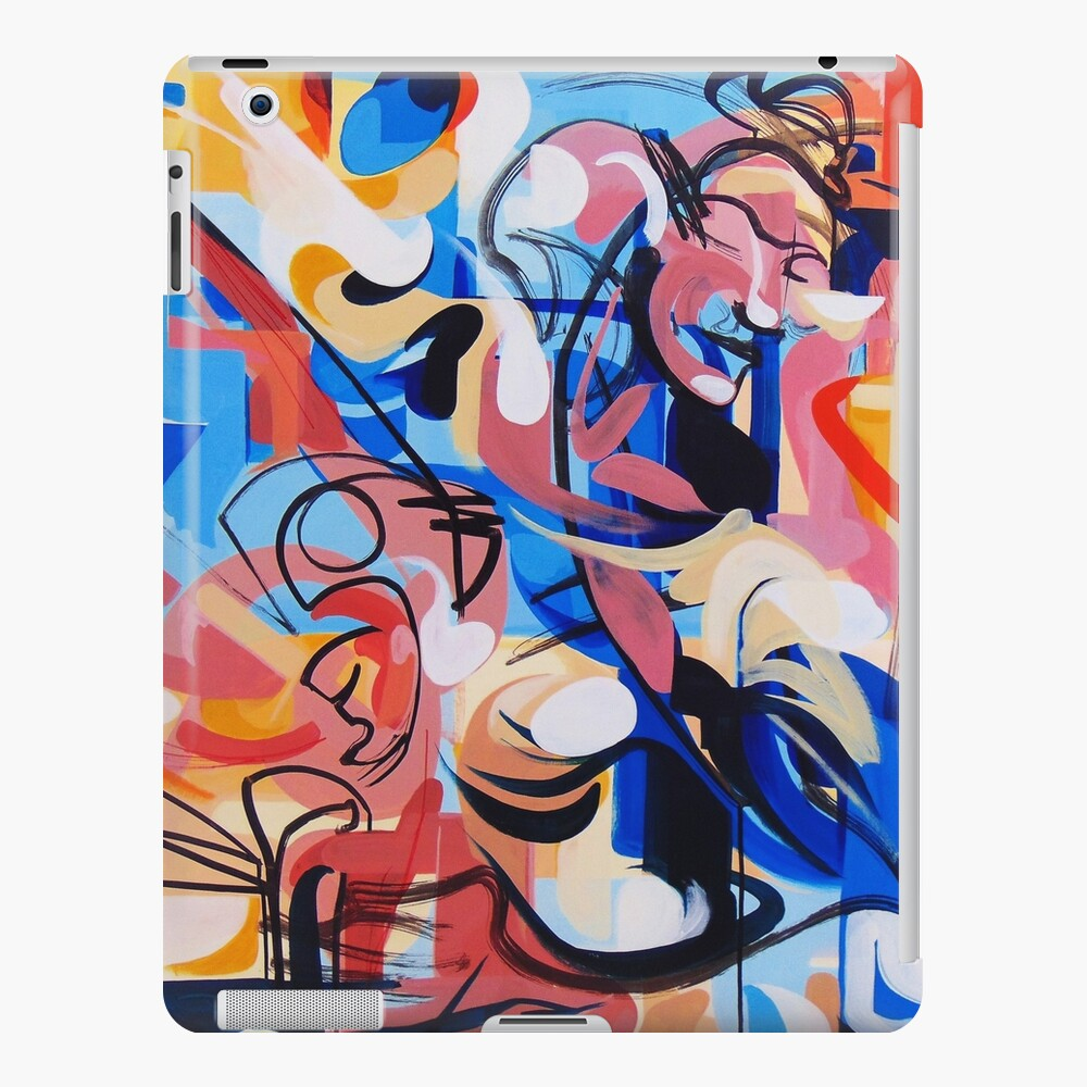 Expressive Abstract People Composition painting iPad Case & Skin