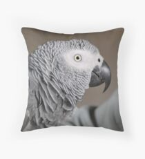 Congo African Grey Parrot Throw Pillow