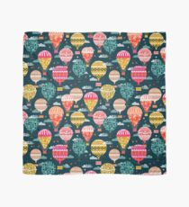 Hot Air Balloons - Retro, Vintage-inspired Print and Pattern by Andrea Lauren Scarf