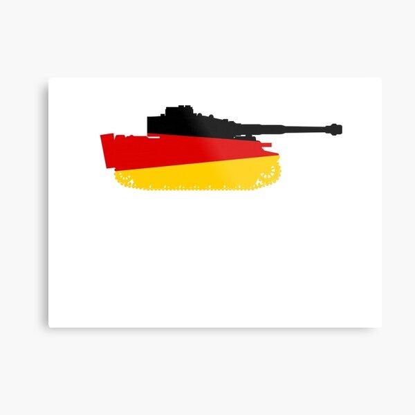 German Tiger Tank with German Flag Metal Print