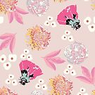 spring garden - pink by beverlylefevre