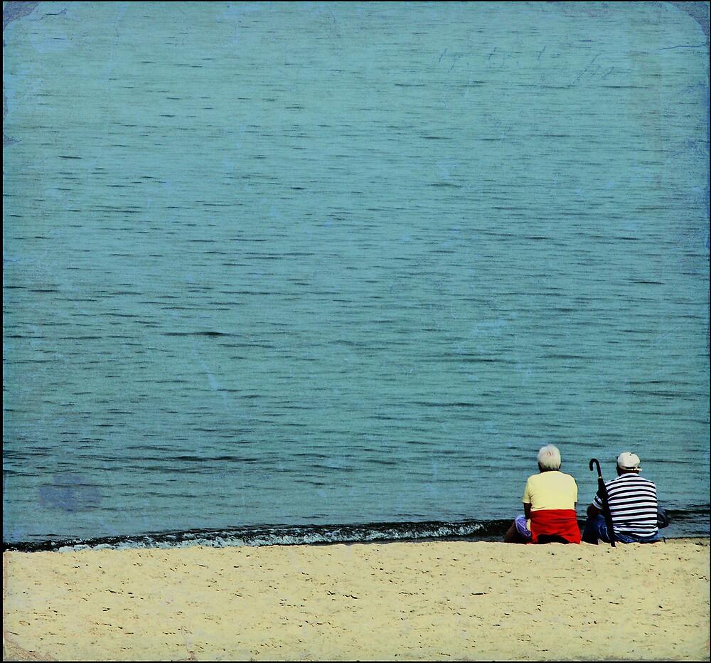on the beach by Maciej Pokora
