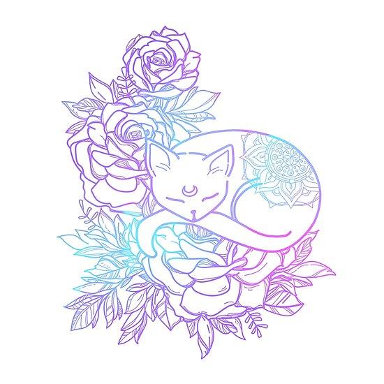 «Pastel Cat Mandala» de artbybee7