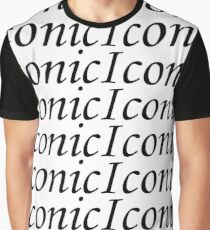 Iconic Lines Print Design Graphic T-Shirt