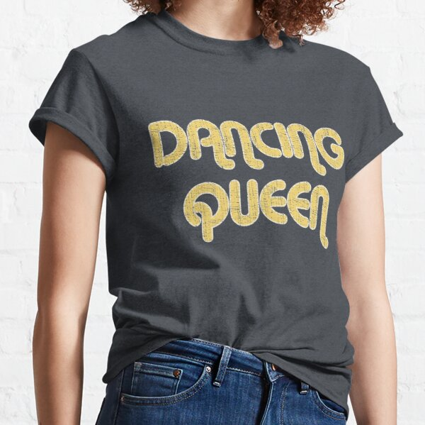 DANCING QUEEN Vintage Large Print 1970's Classic T-Shirt