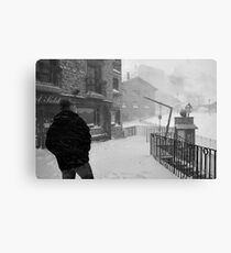 Snowstorm in Andorra Canvas Print