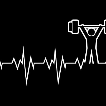 Powerlifting Olympic Weightlifting Heart Beat by lu2k
