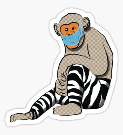 Himalayan zebra monkey proper! Sticker