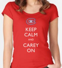 Keep Calm & Carey On Women's Fitted Scoop T-Shirt