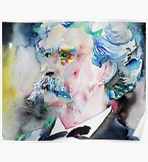 MARK TWAIN - watercolor portrait.5 Poster