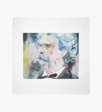 MARK TWAIN - watercolor portrait.5 Scarf