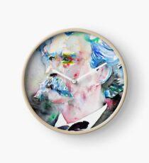 MARK TWAIN - watercolor portrait.5 Clock
