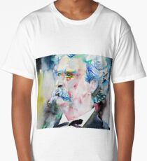 MARK TWAIN - watercolor portrait.5 Long T-Shirt