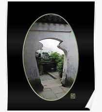 Yu Gardens Jar Doorway, Shanghai Poster