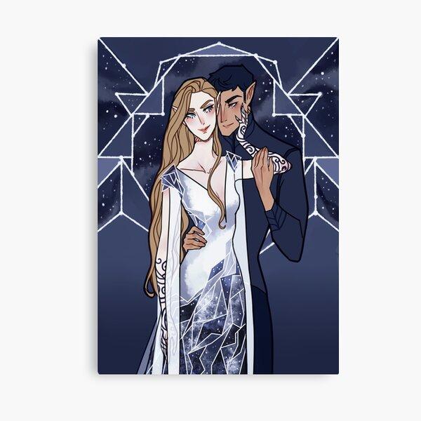 Cosmic Couple Canvas Print