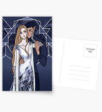 Kosmische Paare Postkarten