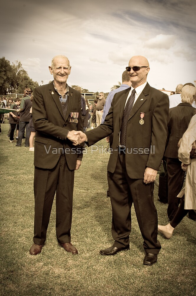 Portraits: Anzacs, Leidley King and Desmond King - Two generations of Anzacs by Vanessa Pike-Russell