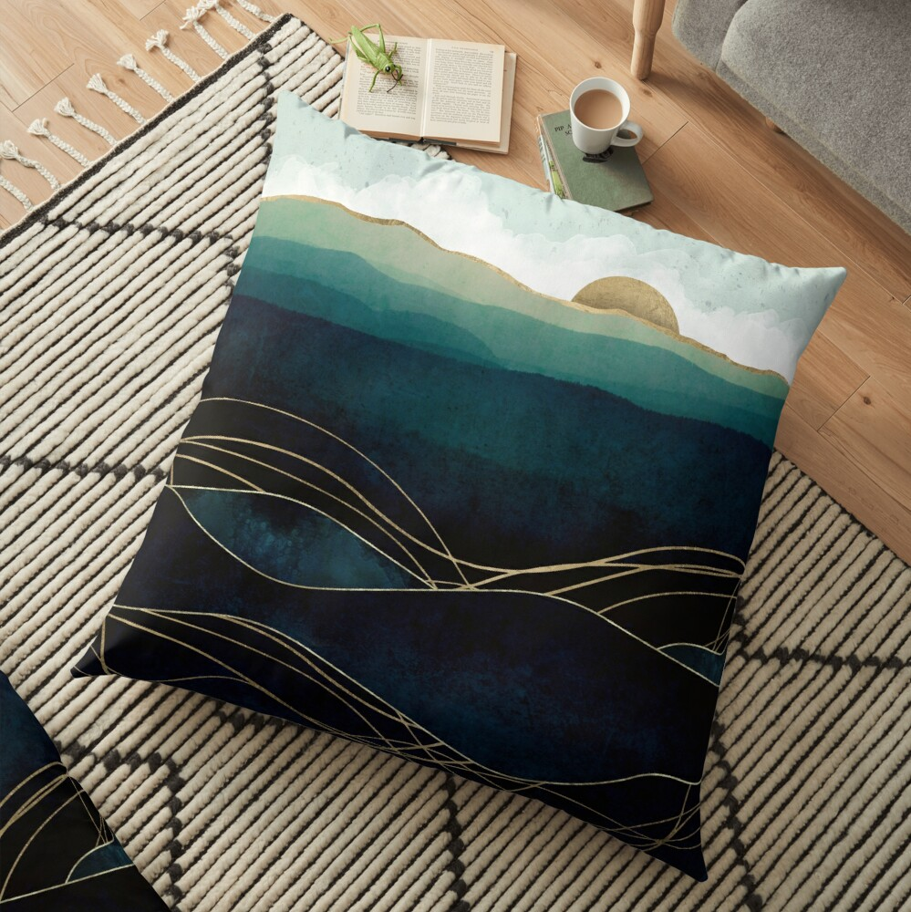 Indigo Waters Floor Pillow