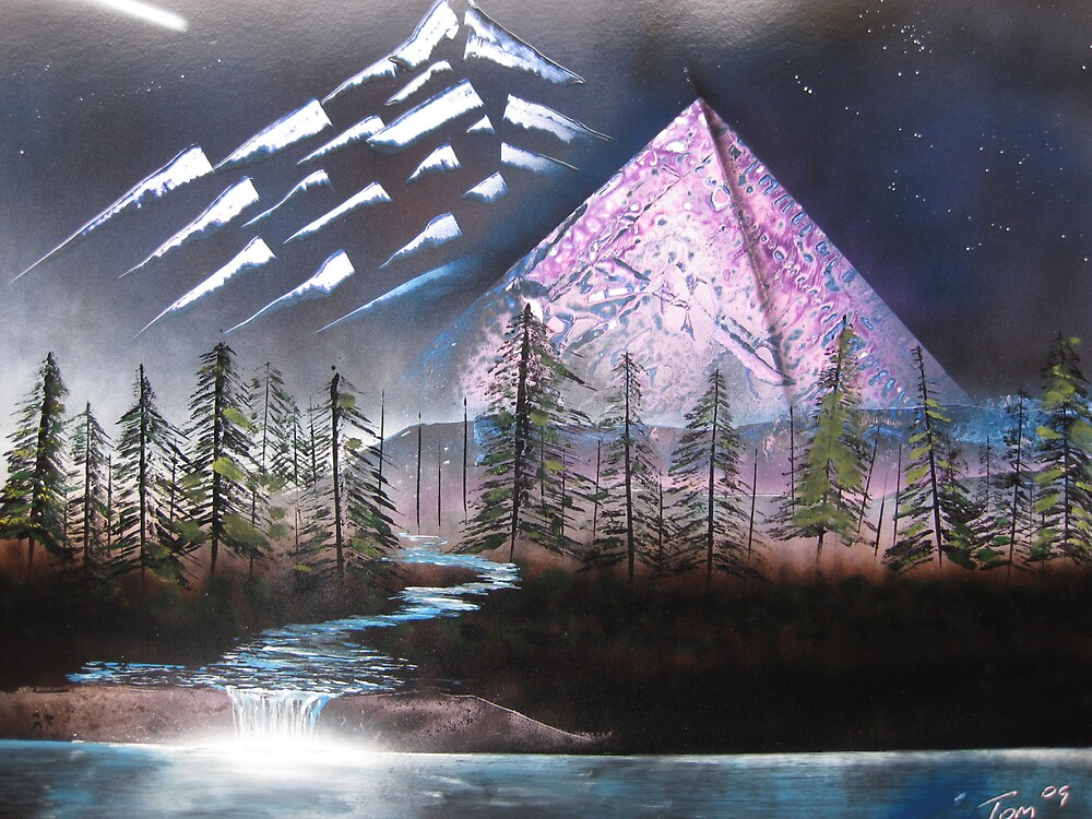 Pyramid Peaks by Spacedoutart