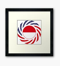 Monacan American Multinational Patriot Flag Series Framed Print
