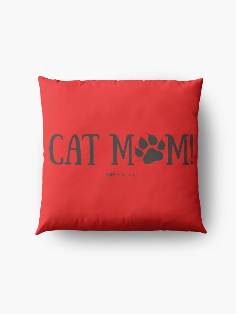 Alternate view of Cat Mom Gift Ideas Floor Pillow