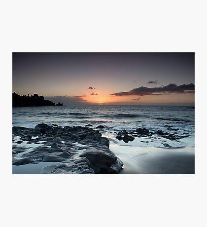 Sunset beyond the Rocks Photographic Print