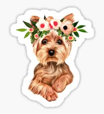 Cute Yorkie Dog Sticker