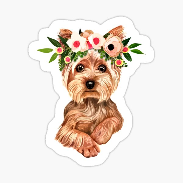 Cute Yorkie Dog Sticker