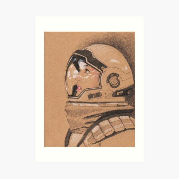 Interstellar dessin cosmonaute  Impression artistique
