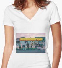 Brockhampton Saturation Heat  Women's Fitted V-Neck T-Shirt
