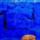 orange cat in a blue world by Hannele Luhtasela-el Showk