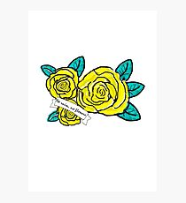 yellow no flowers Photographic Print